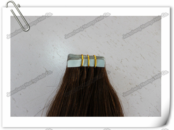 glue tape human hair weft 14inch 20inch 24inch hair extensions supplier