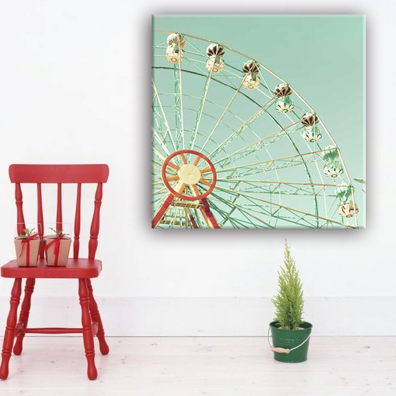 Factory made beautiful ferris wheel simple designs for fabric art painting