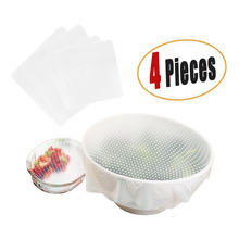 Reusable Food Fresh Keeping Clear Fridge Silicone Wraps Bowl Cover
