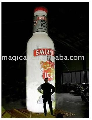 Inflatable advertising bottle with lighting