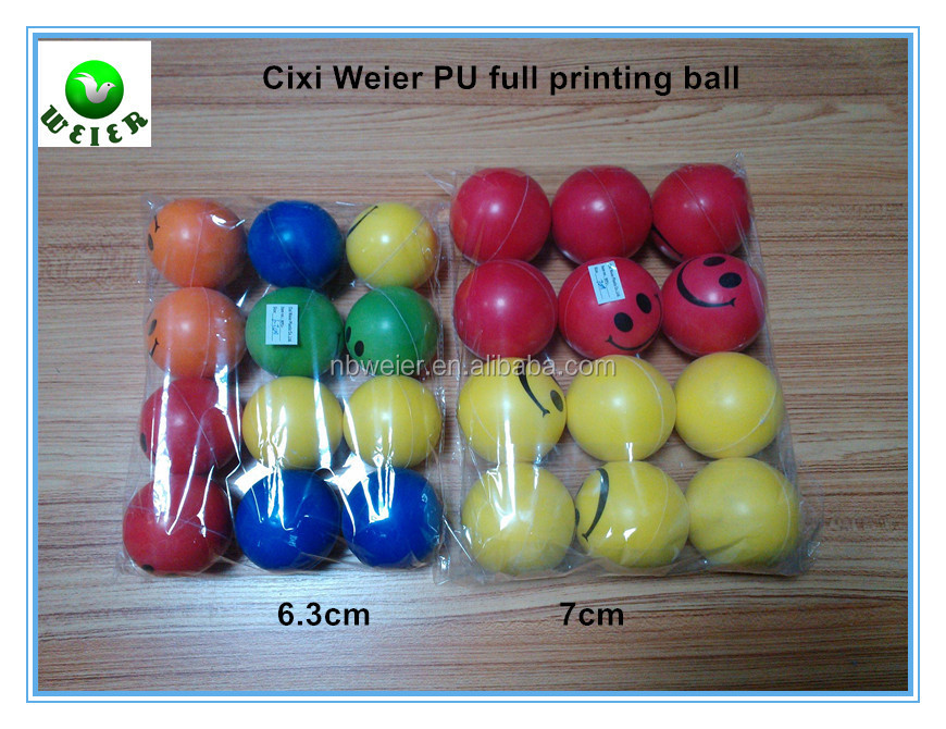 7.6cm cheap PU toy full printing ball/soft toy 7.6cm PU full printing ball for kids&adults/soft gifts 7.cm PU full printing ball