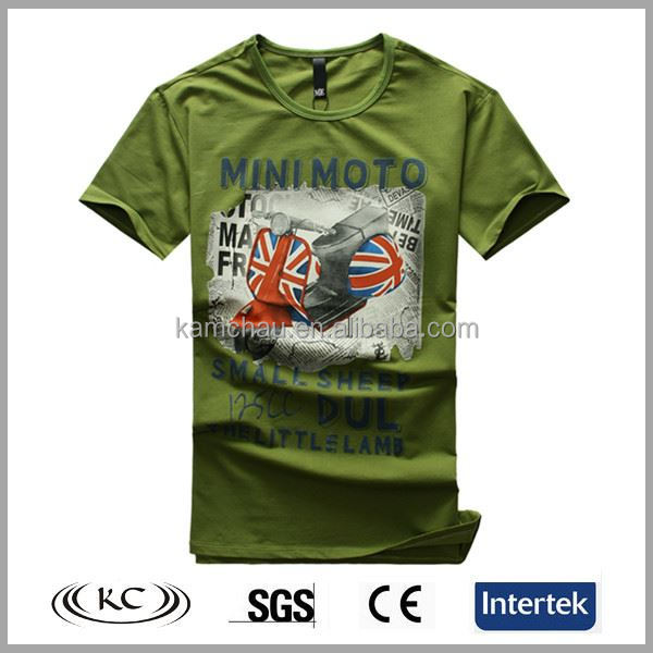 uk high quality 5% spandex 95% cotton word print loose round neck t-shirt
