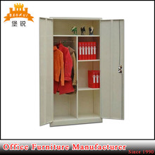 EAS-006 customized easy assemble clothing book cabinets steel clothes closet metal wardrobe cabinet