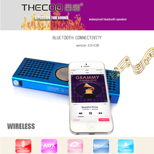 Unique design 2.0 mini bluetooth speaker wholesale thinest 6W bluetooth wireless car/bike subwoofer