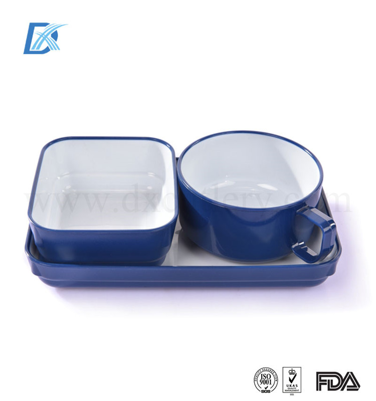 High End Custom Wholesale Airline Reusable Hard Plastic Dinnerware