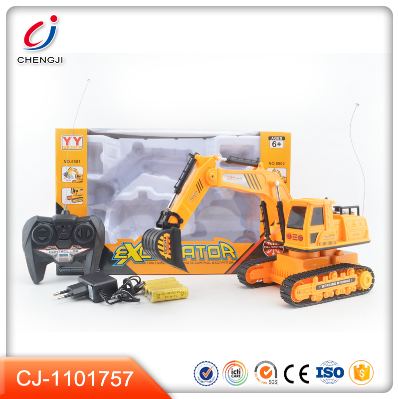 5 channel track machine rc construction toy trucks excavator