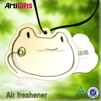 absorbent elastic hang string promotional ecofriendly paper car air freshener