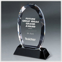 Gem-Cut Oval Crystal Plaque For Great Idea Awards