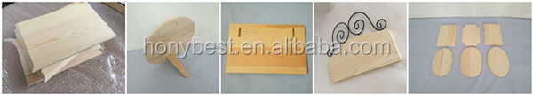 Custom Hand Made Blank Pine Solid Wood Advertising Plank,Pallet Signs Using Screw on the Back