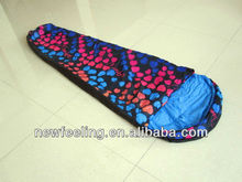 One Person Hooded Mummy sleeping bag for Travelling