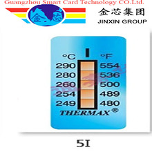 9 degrees thermal paper color changing heat sensitive labels heat temperature label