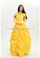 2017 Adult Belle Princess Cosplay Costume Beauty and The Beast Halloween costume Party dress