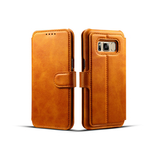 Wholesale Detachable Wallet Card flip genuine mobile pu leather phone case for iphone x 8 7 6 6s Plus samsung galaxy j7