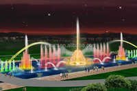 water fountain musical water pools outdoor water feature show with colorful led light