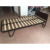 durable strong tube platform metal bed frame with strong wooden slats support and MDF headboard DJ-PQ01