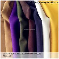 China made 230G roll packing mini matt fabric for garment