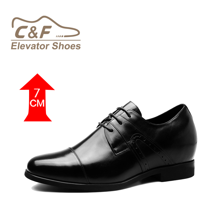 CF Brand 2018 New Arrive Black Cow Leather Elevator Dress Shoes For Short Men