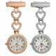 New Chest Pocket Watch Doctor Nurse Watch Warm Sweet Heart Quartz Fob Brooch Pocket Watch with Clip