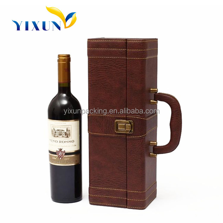 custom designed leather wine glasses carrying case