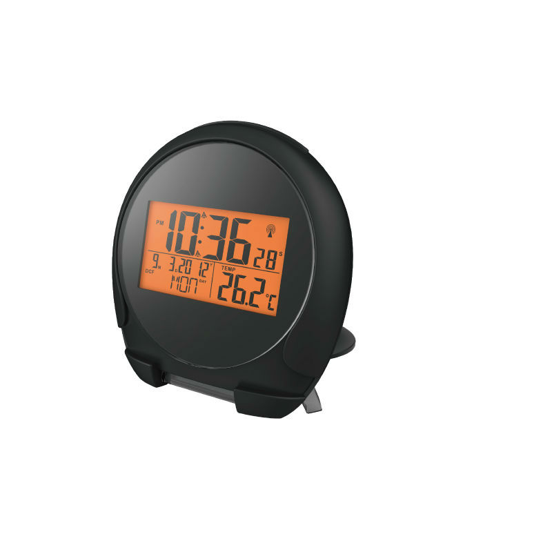 China factory promotional mini weather clock with vibrator