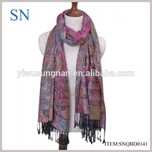 latest fashion paisley cotton pashmina scarf