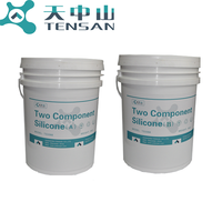 TS8811 Good thermal conductivity and fast self leveling Two Component silicone addition potting for electronic products