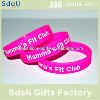 Hot Promotion silicone wristband/silicone band/rubber bracelet