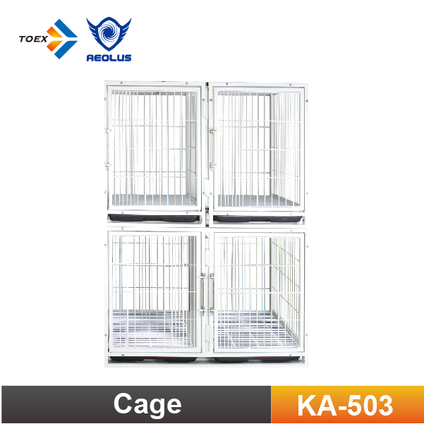 KA-503 Professional Foldable Pet Cage Modular Wire Dog Cage With Plastic Tray