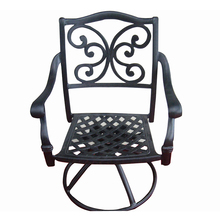 Black Cast aluminum Fiber Chair Outdoor Furniture Garden Swivel Chair
