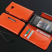 factory price for htc one m7 custom case, leather case cover for htc one m7, wallet case for htc one m7