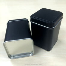 Square Food Grade Empty Tea Can/tea tin box/tin container for tea