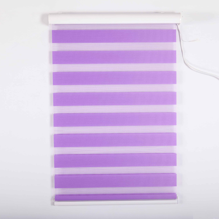 Different Types Motorized Purple Zebra Blinds