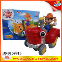 Battery Operated Tractor,Farmer Truck(Red/Yellow)
