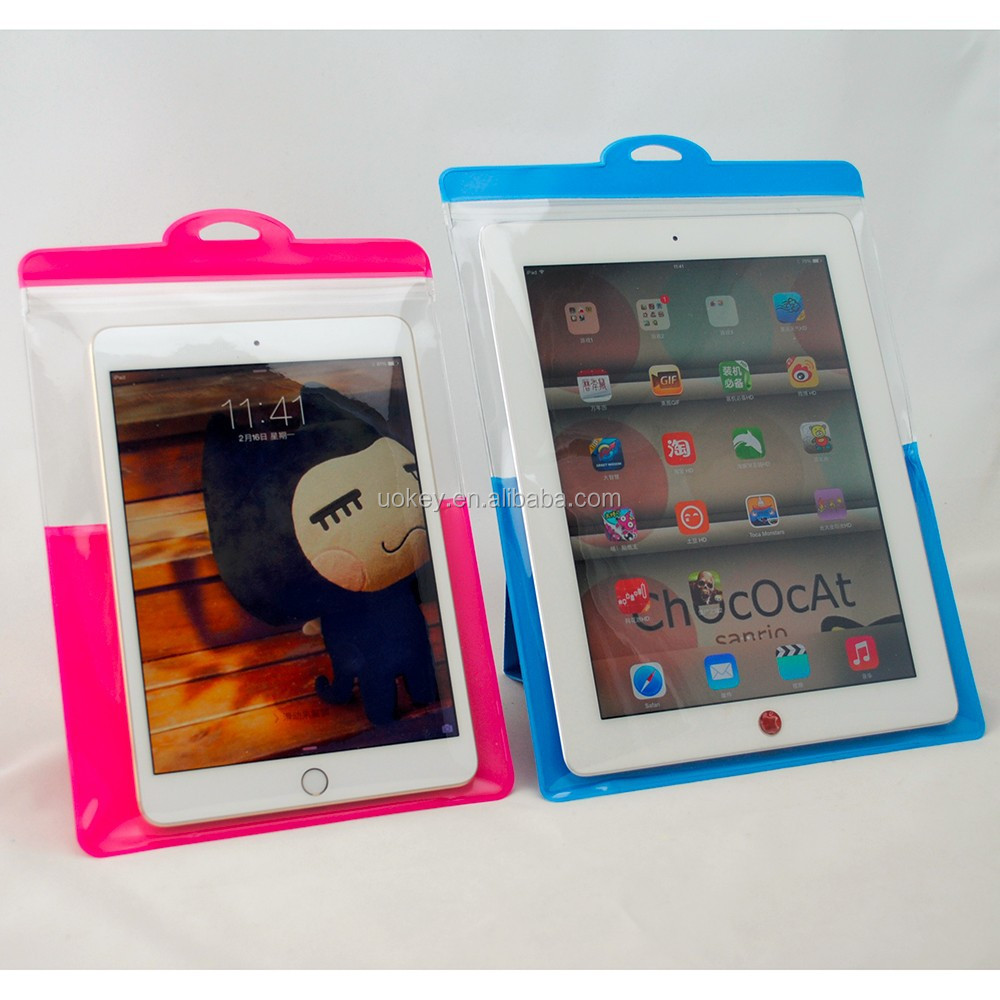 New Design Stand Pouch PVC Waterproof Bag Case For Ipad PVC Waterproof Case