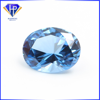 Factory Direct Sale Lab Created Azurite Light Spinel #114 Oval shape Synthetic Spinel Stone