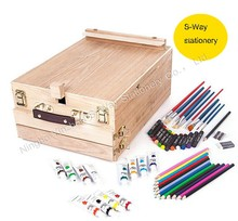 94 Piece wooden art set supply sell in the amazon us