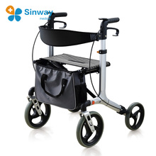 Disability Aluminum X Fold Rollator Walker with Wheels