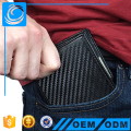Thin RFID Blocking Carbon Fiber Leather mens Bifold Wallets