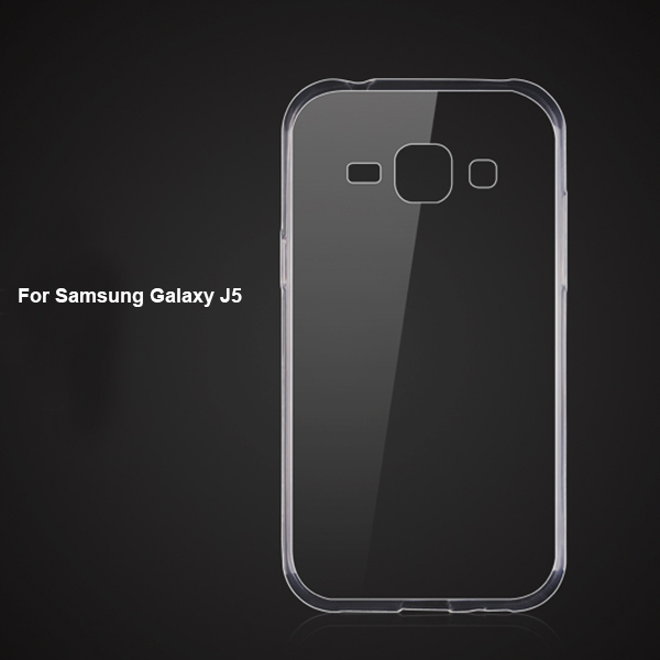 Transparent soft case for Samsung Galaxy J5 phone mobile accessory