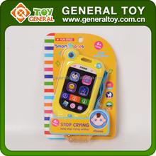 Shantou New Educational Toys 2015 Plastic Baby Musical Touch Screen Mobile Phone Toy