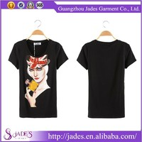 2015 Popular and famous guangzhou fashion tshirt manufacturer