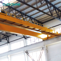 Strict inspection industrial overhead monorail crane for steel workshop