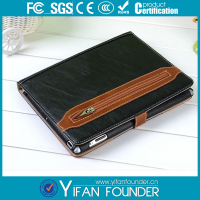Black Stand Leather smart cover for ipad 4,for ipad4 case