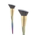 Angled contour brushes, plastic makeup brushes, glitter colorful handle brushes, personalized makeup brushes