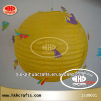 butterfly style in yellow decorative paper lantern
