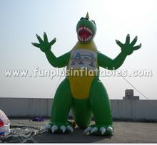 Giant custom design inflatable green dinosaur balloon P4115