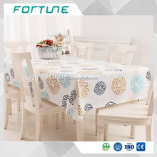 Water Soluble opaque printed roll pvc table cloth in sheet