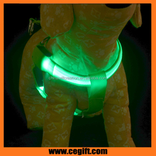 High quanlity Nylon LED Flashing led harness for dogs, glowing LED dog Chest straps