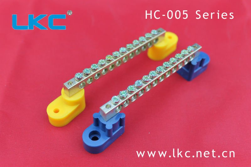 Copper Earth Bar Terminal Strip /HC-005