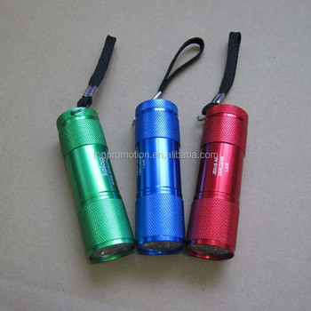 aluminum torch 9 led aluminum flashlight